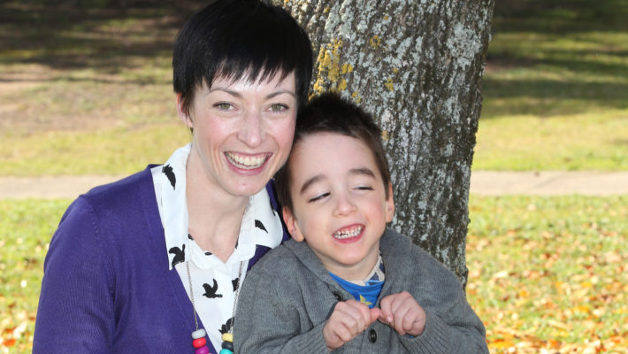 Canberra mum Fiona Keary with her son Max who has cerebral palsy