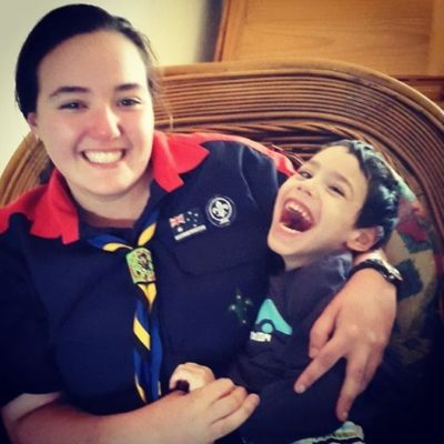 Castle Hill Rover Lauren with her nephew Cameron who has cerebral palsy