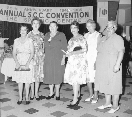 Group of women photographed in 1965 at 20th anniversary of the Country Councils