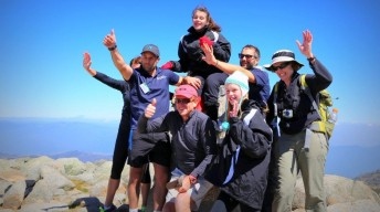 Group of young people with CP on Mt Kosciuszko
