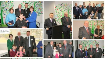 Pictures taken during Governor-General - group of adults and kids with cerebral palsy