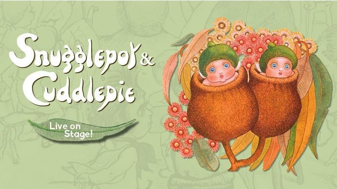 Storybook characters Snugglepot and Cuddlepie - illustration