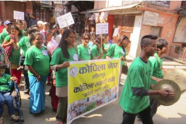 World CP Day rally in Nepal