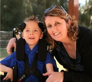 Shannon Clough and her late son Ethan who had cerebral palsy