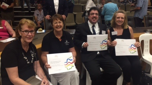Toy Library Team with their Lake Macquarie Australia Day Team of the Year finalists awards