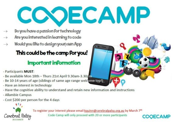 Information about Code Camp for kids