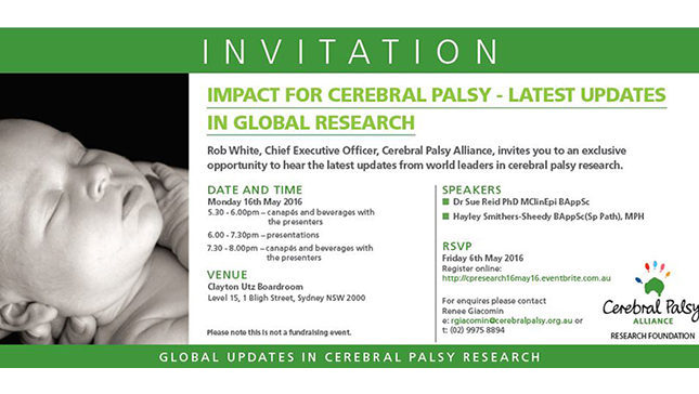 invitation to impact for cp research event