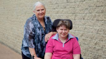 Marelle Thornton with her daughter Katie, who lives with cerebral palsy.