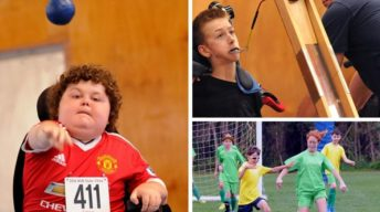Kids with a range of disabilities trying out different sports