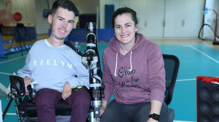 Paralympians Daniel Michel and Ashely McClure